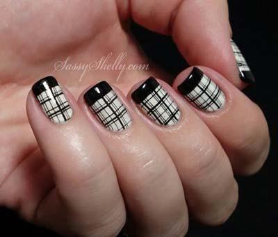 Ασπρόμαυρα σχέδια στα νύχια (41)
