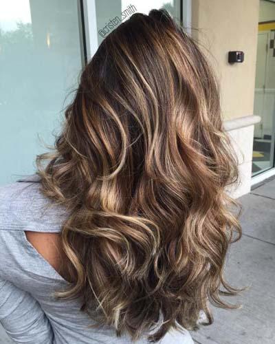 Ανταύγειες σε καστανά μαλλιά (1)