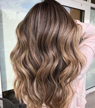 Ανταύγειες σε καστανά μαλλιά (6)
