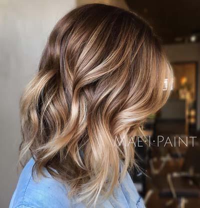 Ανταύγειες σε καστανά μαλλιά (7)