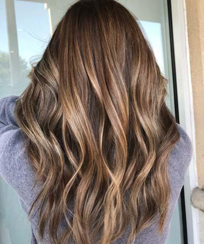 Ανταύγειες σε καστανά μαλλιά (11)