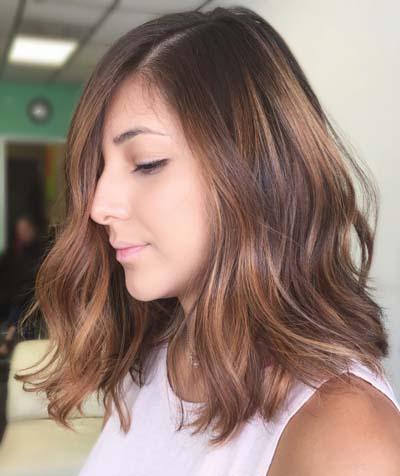 Ανταύγειες σε καστανά μαλλιά (12)