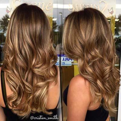Ανταύγειες σε καστανά μαλλιά (14)
