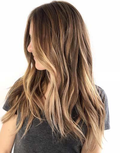 Ανταύγειες σε καστανά μαλλιά (17)