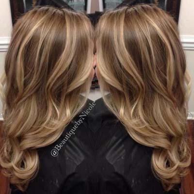 Ανταύγειες σε καστανά μαλλιά (18)