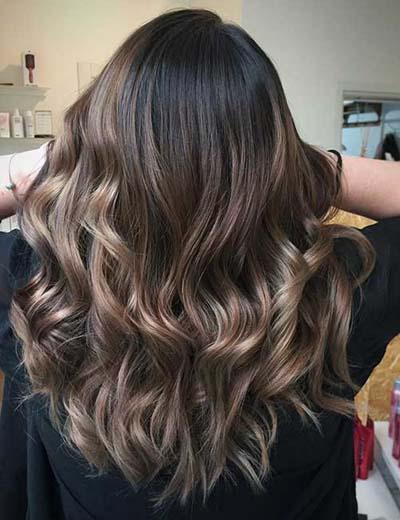 Ανταύγειες σε καστανά μαλλιά (54)