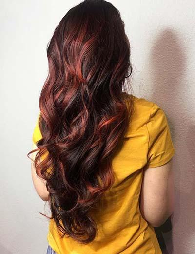 Ανταύγειες σε καστανά μαλλιά (60)