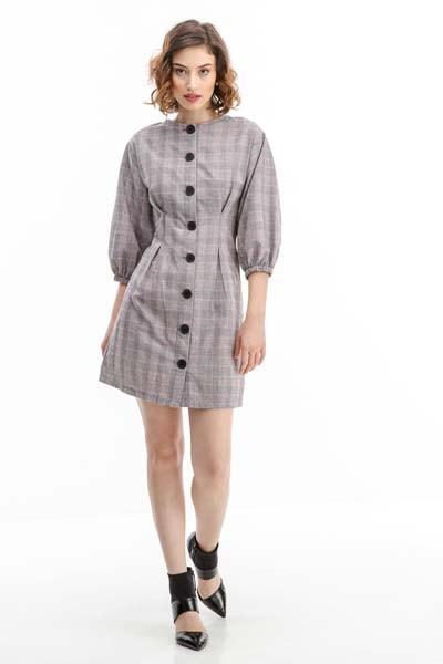 b1a9c9740718 Αμάνικο φθινοπωρινό ή χειμωνιάτικο μίνι ασπρόμαυρο τουίντ φόρεμα ZARA σε  σχέδιο σακακιού Φορέματα Φθινόπωρο - Χειμώνας (20)