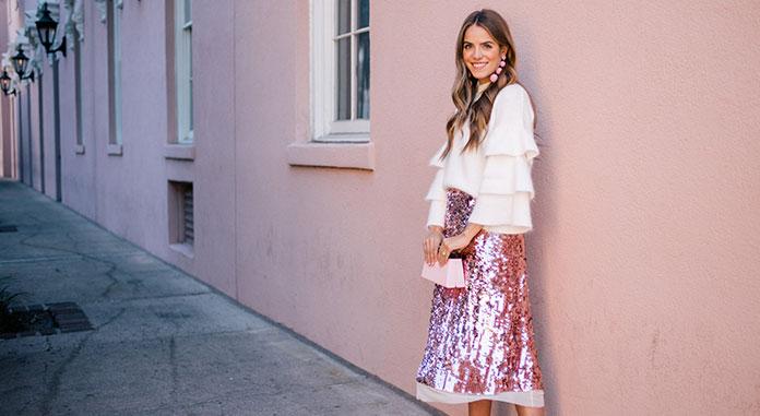 e1bbbb08334 Πως να φορέσετε παγιέτες: Όμορφοι συνδυασμοί με φούστα, φόρεμα και ...