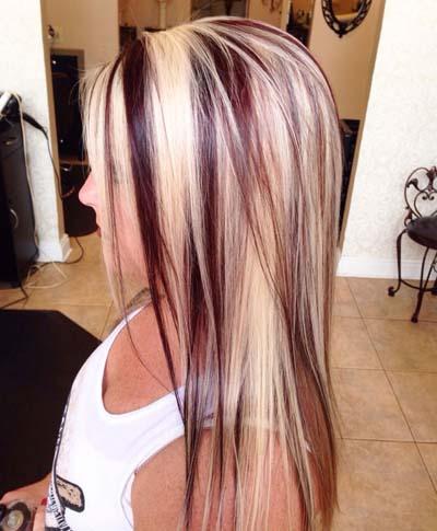 Ξανθά μαλλιά με ανταύγειες (1)