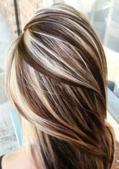 Ξανθά μαλλιά με ανταύγειες (2)