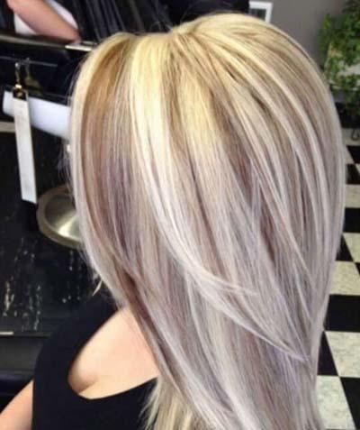 Ξανθά μαλλιά με ανταύγειες (5)