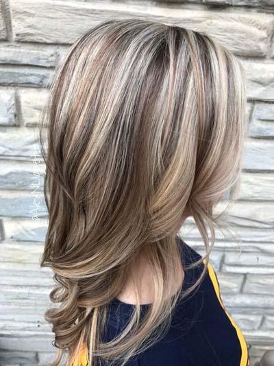 Ξανθά μαλλιά με ανταύγειες (7)