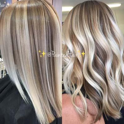 Ξανθά μαλλιά με ανταύγειες (8)