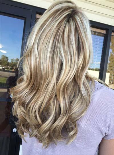 Ξανθά μαλλιά με ανταύγειες (9)