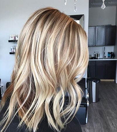 Ξανθά μαλλιά με ανταύγειες (10)