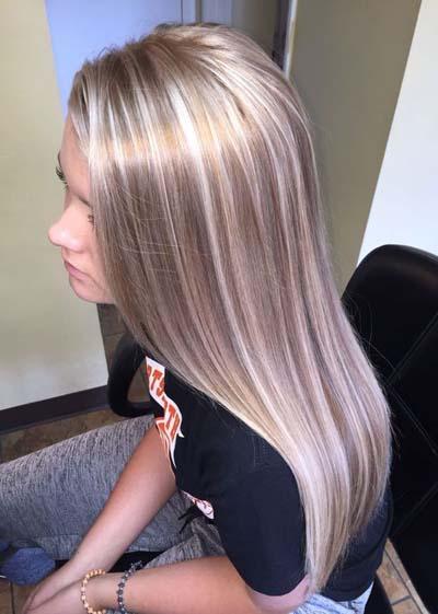 Ξανθά μαλλιά με ανταύγειες (18)