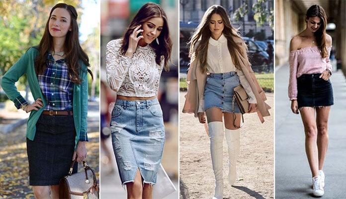 30 συνδυασμοί με τζιν φούστα για να την φορέσεις με στυλ a0c47ca9c31
