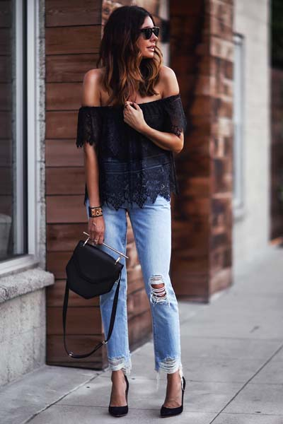 Συνδυασμοί ρούχων με τζιν παντελόνι για εντυπωσιακά ντυσίματα (19)