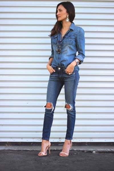Συνδυασμοί ρούχων με τζιν παντελόνι για εντυπωσιακά ντυσίματα (43)