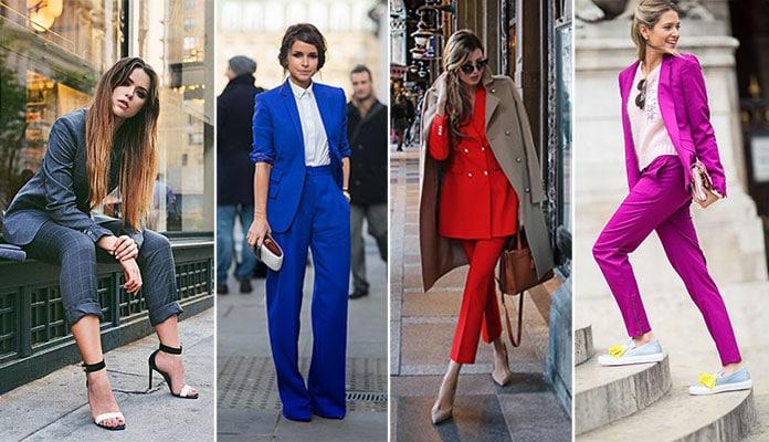 Πως να φορέσετε ένα γυναικείο κοστούμι  Κομψοί συνδυασμοί για κάθε στυλ c45ffd07ffb