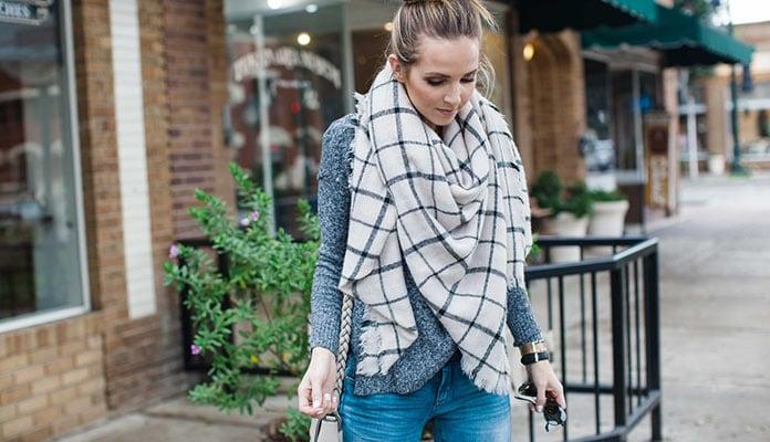 Οι πιο στυλάτοι τρόποι για να φορέσεις ένα κασκόλ κουβέρτα d2fdab5808e