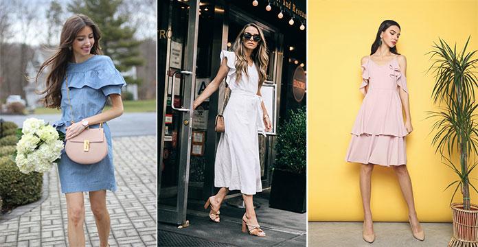 b413b20480e7 Βολάν σε φορέματα και μπλούζες. Τάσεις της μόδας για την Άνοιξη   Καλοκαίρι  ...