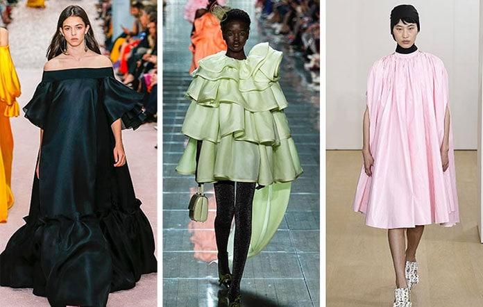 ffd43ef4732 Ογκώδη βραδινά φορέματα με ή χωρίς βολάν. Τάσεις της μόδας για την Άνοιξη /  Καλοκαίρι 2019 (13)