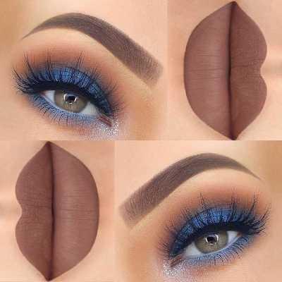 Μπλε μακιγιάζ ματιών (2)