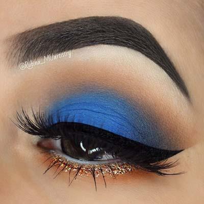 Μπλε μακιγιάζ ματιών (3)