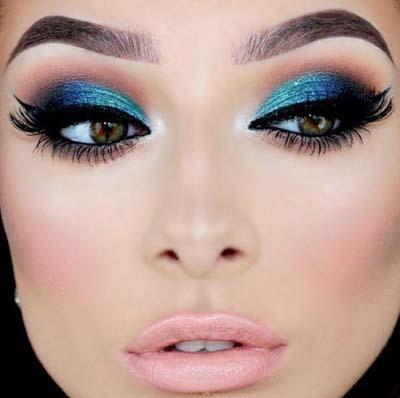 Μπλε μακιγιάζ ματιών (4)
