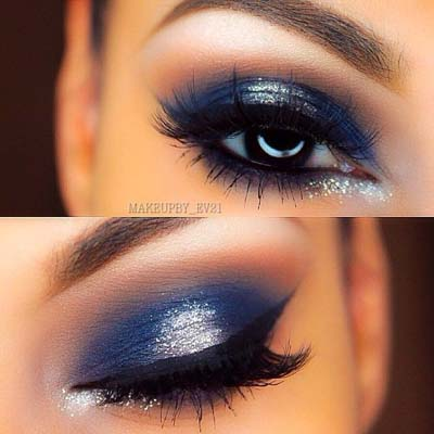Μπλε μακιγιάζ ματιών (5)