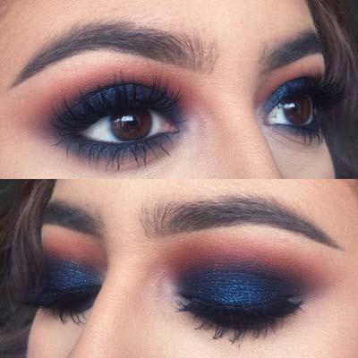 Μπλε μακιγιάζ ματιών (6)