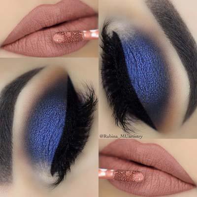 Μπλε μακιγιάζ ματιών (8)