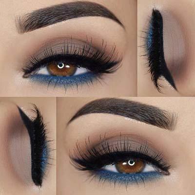 Μπλε μακιγιάζ ματιών (15)
