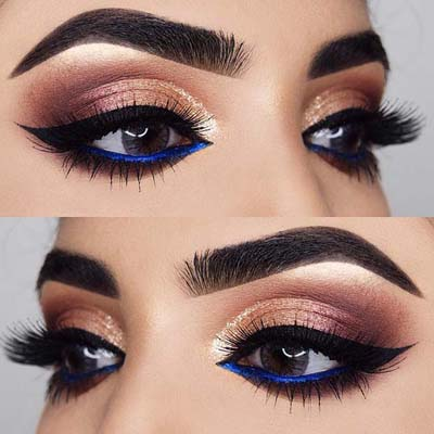 Μπλε μακιγιάζ ματιών (16)