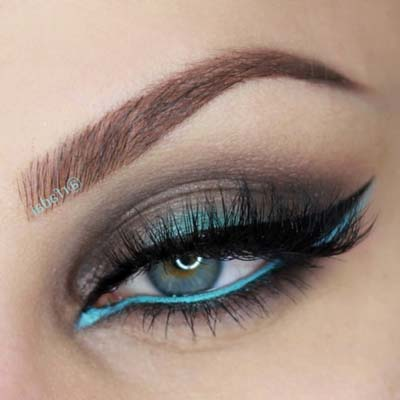Μπλε μακιγιάζ ματιών (17)