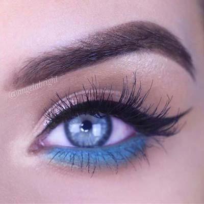 Μπλε μακιγιάζ ματιών (19)