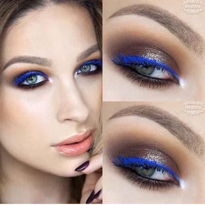 Μπλε μακιγιάζ ματιών (9)