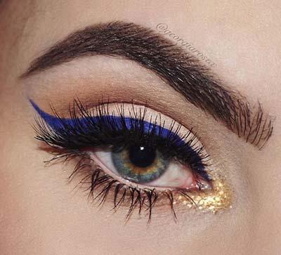 Μπλε μακιγιάζ ματιών (10)