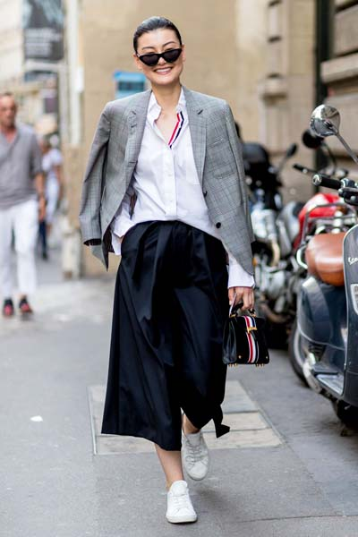 Casual και street style ντύσιμο με zip culotte (1)