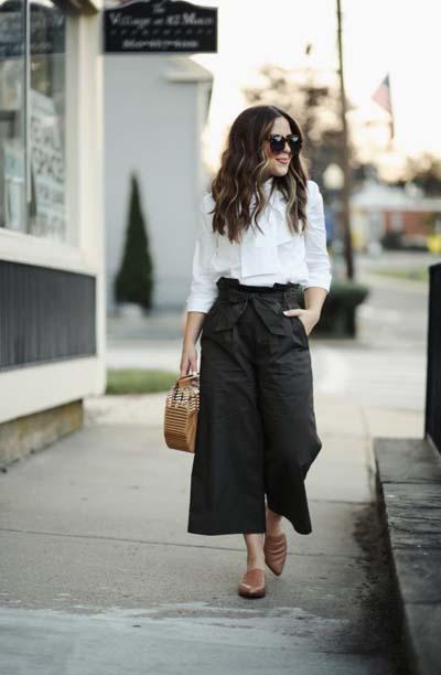 Casual και street style ντύσιμο με zip culotte (2)