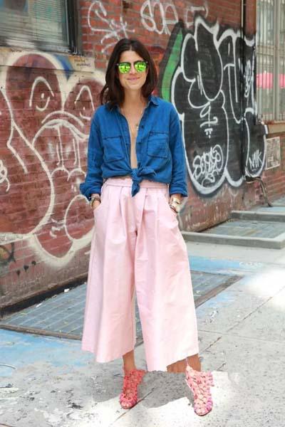 Casual και street style ντύσιμο με zip culotte (4)