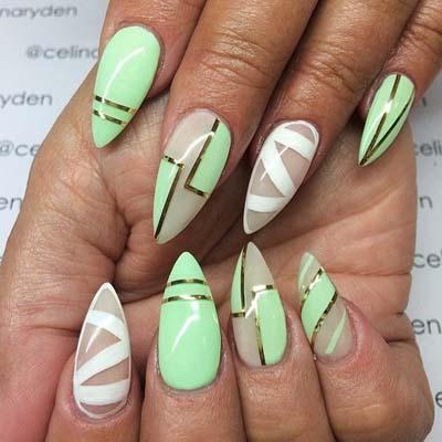 Εντυπωσιακά σχέδια για φυστικί νύχια (4)