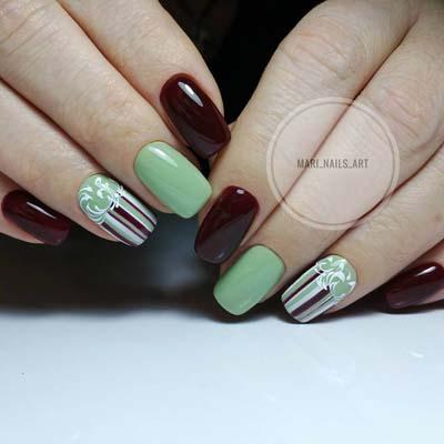 Εντυπωσιακά σχέδια για φυστικί νύχια (9)