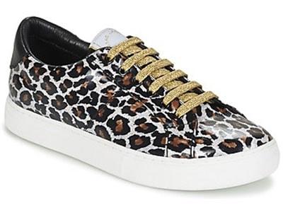 3e0ebc714e18 ... Λεοπάρ αθλητικά παπούτσια με λευκή σόλα και χρυσά κορδόνια - Marc Jacobs