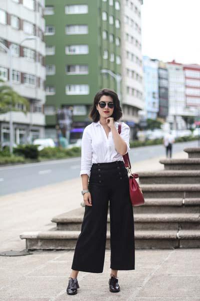 Ντύσιμο για το γραφείο με ζιπ κιλότ (5)