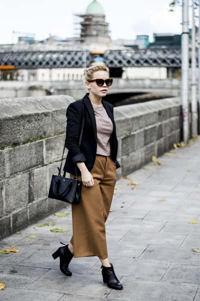 Ντύσιμο για το γραφείο με ζιπ κιλότ (6)