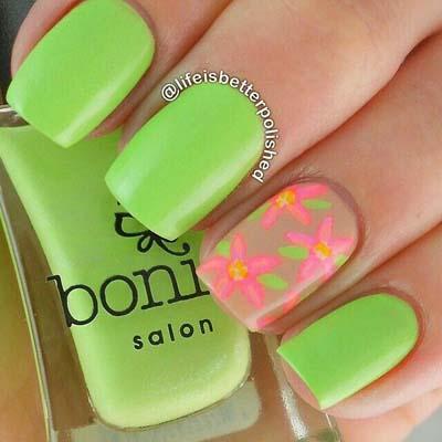 Πράσινα νύχια σε διάφορες αποχρώσεις (1)