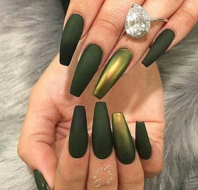 Πράσινα νύχια σε διάφορες αποχρώσεις (3)